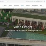 Real Estate Homepage with Video Header