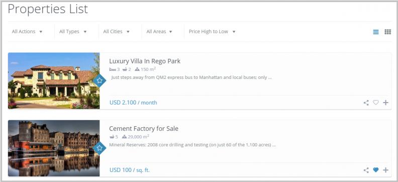 Property list-list view