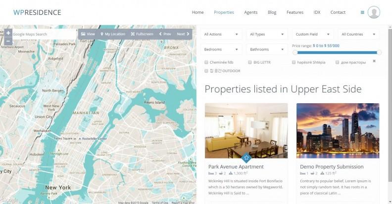 WP Residence Property list half taxonomy