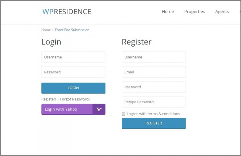 WP Residence new registration type-1.11 version