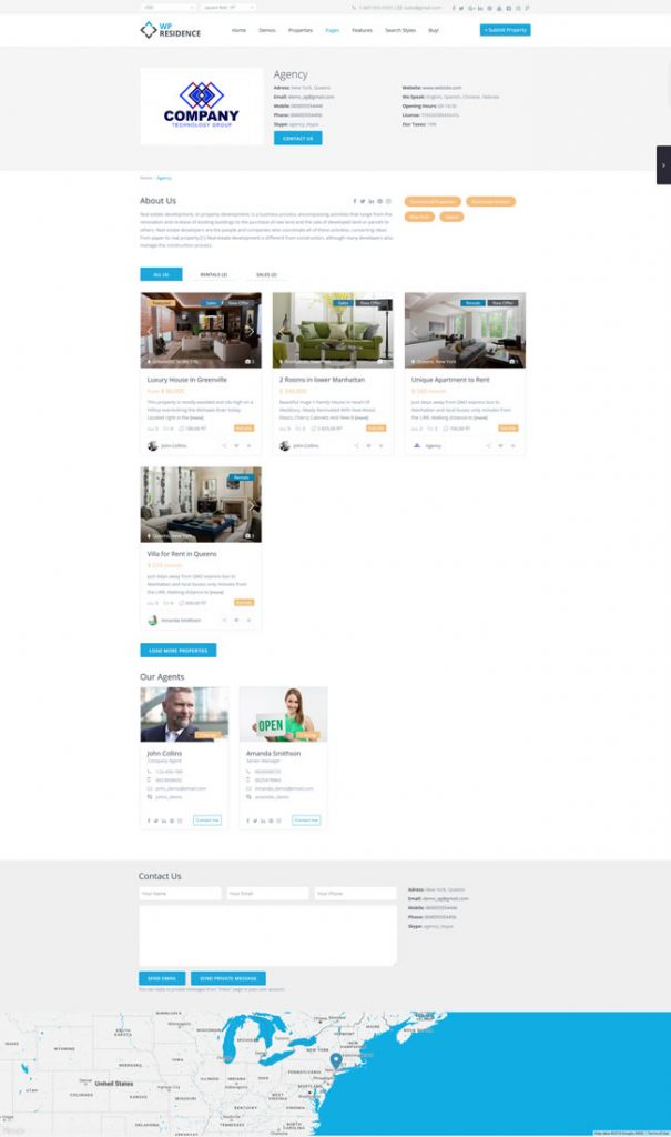 AGENT, AGENCY AND DEVELOPER PAGES IN WP RESIDENCE
